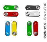 toggle switch set  on and off...