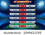russia 2018 football world cup... | Shutterstock .eps vector #1049621195
