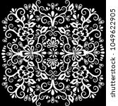 abstract floral pattern  vector ... | Shutterstock .eps vector #1049622905