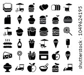 snack icons. set of 36 editable ... | Shutterstock .eps vector #1049624195