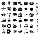 hot icons. set of 36 editable... | Shutterstock .eps vector #1049624222