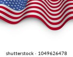 wavy flag of united states of... | Shutterstock .eps vector #1049626478