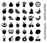 fruit icons. set of 36 editable ... | Shutterstock .eps vector #1049626982
