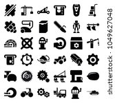 machine icons. set of 36... | Shutterstock .eps vector #1049627048