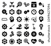 gear icons. set of 36 editable... | Shutterstock .eps vector #1049627096