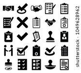 agreement icons. set of 25... | Shutterstock .eps vector #1049628962