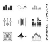equalizer icons. set of 9... | Shutterstock .eps vector #1049629745