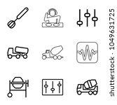 mixer icons. set of 9 editable... | Shutterstock .eps vector #1049631725