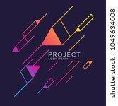 trendy abstract art geometric... | Shutterstock .eps vector #1049634008