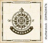 vintage wanderer label. eps10... | Shutterstock .eps vector #1049634476