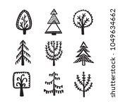 scandinavian style hand drawn... | Shutterstock .eps vector #1049634662