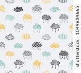 scandinavian style hand drawn... | Shutterstock .eps vector #1049634665