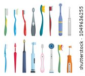 Toothbrush Dental Icons Set....