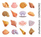 Sea Shell Beach Icons Set....