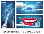 toothbrush dental banner...   Shutterstock .eps vector #1049636726