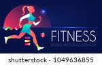 woman fitness. workout girl.... | Shutterstock .eps vector #1049636855