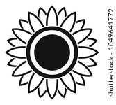 bright sunflower icon. simple... | Shutterstock .eps vector #1049641772