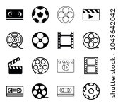 cinematography icons. set of 16 ... | Shutterstock .eps vector #1049642042
