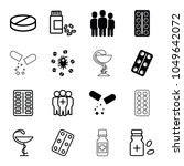 cure icons. set of 16 editable... | Shutterstock .eps vector #1049642072