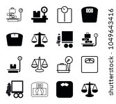 scales icons. set of 16... | Shutterstock .eps vector #1049643416