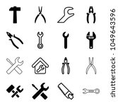 wrench icons. set of 16... | Shutterstock .eps vector #1049643596
