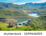 lesotho traditional hut house... | Shutterstock . vector #1049646005