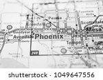 phoenix on the map usa | Shutterstock . vector #1049647556