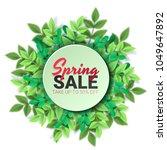 spring sale floral advertizing... | Shutterstock .eps vector #1049647892