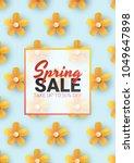 spring sale floral advertizing... | Shutterstock .eps vector #1049647898
