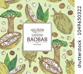 background with baobab  baobab... | Shutterstock .eps vector #1049650322