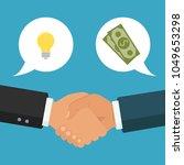handshake  business partnership.... | Shutterstock .eps vector #1049653298