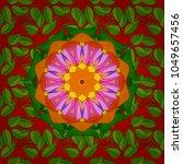 vector illustration. watercolor ... | Shutterstock .eps vector #1049657456