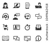 support service. monochrome... | Shutterstock .eps vector #1049662418