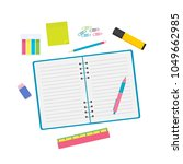 stationary objects vector... | Shutterstock .eps vector #1049662985