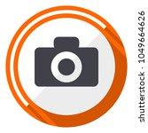 camera orange flat design... | Shutterstock .eps vector #1049664626