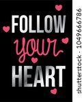 heart shape with typography...   Shutterstock .eps vector #1049666786