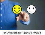 businessman hand pointing the... | Shutterstock . vector #1049679395