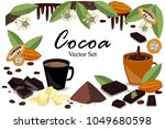 banner with super food cocoa... | Shutterstock .eps vector #1049680598