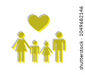 family symbol with heart.... | Shutterstock .eps vector #1049682146