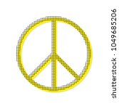peace sign illustration. vector.... | Shutterstock .eps vector #1049685206