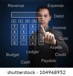 business man pointing at... | Shutterstock . vector #104968952