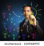 business man writing concept of ... | Shutterstock . vector #104968955