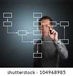 business man writing strategy... | Shutterstock . vector #104968985