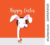 happy easter design with... | Shutterstock .eps vector #1049693435
