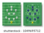 soccer cup formation and tactic.... | Shutterstock .eps vector #1049695712