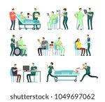 doctors  medical nurse and... | Shutterstock .eps vector #1049697062