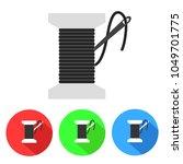 bobbin with needle thread icon...   Shutterstock .eps vector #1049701775