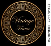 vintage luxury retro ornamental ... | Shutterstock .eps vector #1049704676