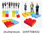 create your own business team.... | Shutterstock . vector #1049708432