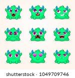 cartoon monsters. vector set of ... | Shutterstock .eps vector #1049709746